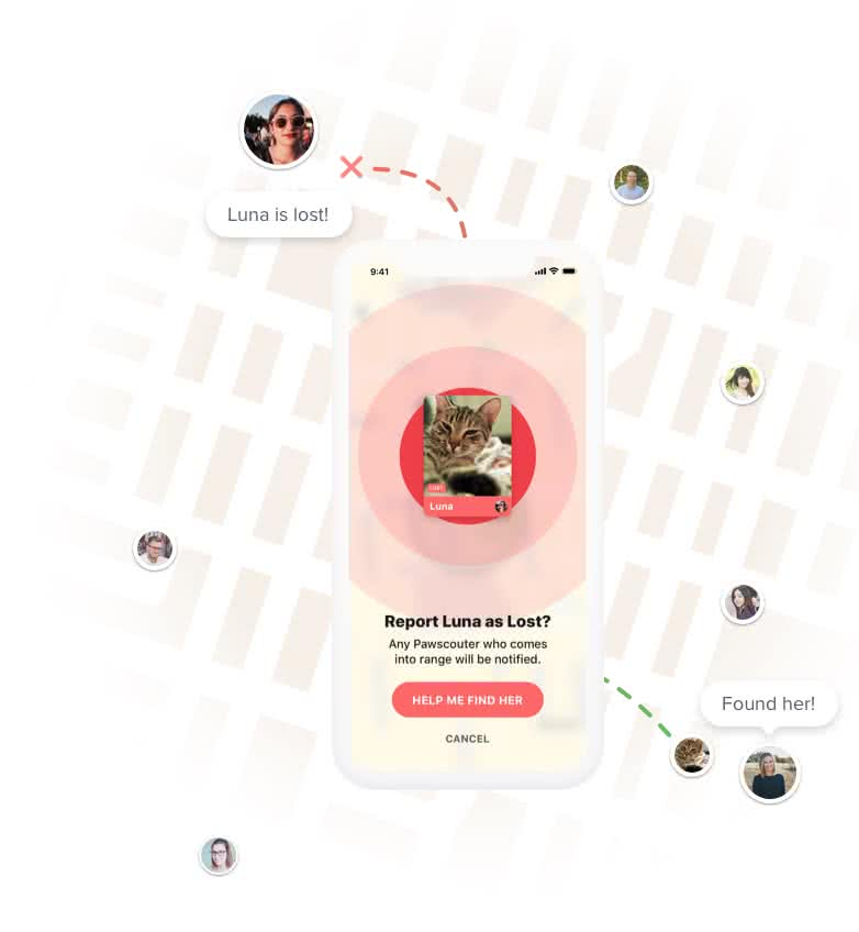 Pawscout Community Pet Tracker | Cat & Dog Tag